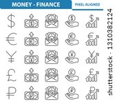 money   finance icons.... | Shutterstock .eps vector #1310382124