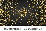golden confetti falling on...   Shutterstock .eps vector #1310388424