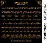 vector set of pattern brushes ... | Shutterstock .eps vector #1310390461