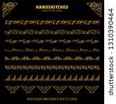 vector set of pattern brushes ... | Shutterstock .eps vector #1310390464