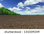 Farm field - stock photo