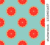 pattern with grapefruit on a... | Shutterstock .eps vector #1310401657