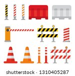 road barrier and street... | Shutterstock .eps vector #1310405287