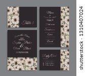 wedding invitation set....   Shutterstock .eps vector #1310407024