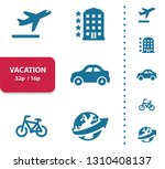vacation icons. professional ... | Shutterstock .eps vector #1310408137