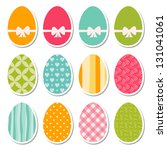 set of egg stickers  raster... | Shutterstock . vector #131041061