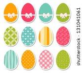 set of egg stickers  raster... | Shutterstock . vector #131041061