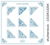vector collection of vintage... | Shutterstock .eps vector #1310413204