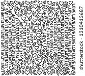 the beautiful doodle background ... | Shutterstock .eps vector #1310413687