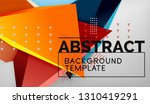 abstract color triangles...   Shutterstock .eps vector #1310419291