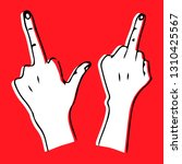 middle finger. outrageous and... | Shutterstock .eps vector #1310425567