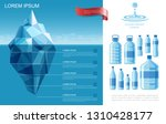 flat pure water infographic... | Shutterstock .eps vector #1310428177
