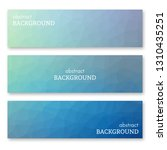 set of three blue banners in... | Shutterstock .eps vector #1310435251