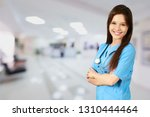 friendly medical worker | Shutterstock . vector #1310444464