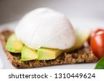 healthy breakfast with... | Shutterstock . vector #1310449624