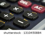 closeup of keys or buttons of...   Shutterstock . vector #1310450884