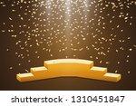 golden podium with a spotlight...   Shutterstock .eps vector #1310451847