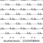 hello handlettering  greeting ... | Shutterstock .eps vector #1310458844