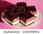 pieces of chocolate cheese cake ... | Shutterstock . vector #1310458961