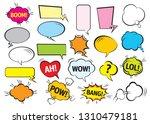 set of color comic speech... | Shutterstock .eps vector #1310479181