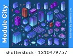 isometric set module city with... | Shutterstock .eps vector #1310479757