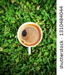 coffee on the grass.  image | Shutterstock . vector #1310484044