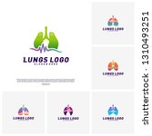 set of medical lungs logo... | Shutterstock .eps vector #1310493251
