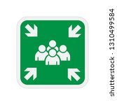 assembly point icon. evacuation ... | Shutterstock .eps vector #1310499584