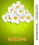 vector   beautiful spring white ... | Shutterstock .eps vector #131051351