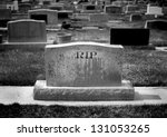Gravestone In Cemetery With...
