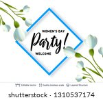 8 of march women's day card or... | Shutterstock .eps vector #1310537174