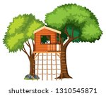 a tree house isolated... | Shutterstock .eps vector #1310545871