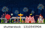 a night them park scene... | Shutterstock .eps vector #1310545904