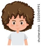 a brunette boy curly hairstyle... | Shutterstock .eps vector #1310545991