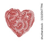 abstract red vector heart | Shutterstock .eps vector #1310547794