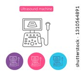 ultrasound diagnostic icon in... | Shutterstock .eps vector #1310564891