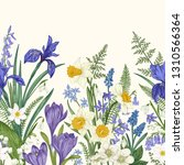 seamless border with spring... | Shutterstock .eps vector #1310566364