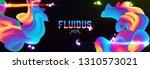 fluid colorful gradient... | Shutterstock .eps vector #1310573021