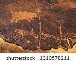 unique and rare petroglyph... | Shutterstock . vector #1310578211