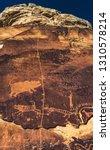 unique and rare petroglyph... | Shutterstock . vector #1310578214