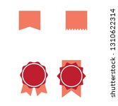 red ribbons medal award  set... | Shutterstock .eps vector #1310622314