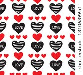 seamless pattern with hearts.... | Shutterstock .eps vector #1310639951