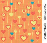 seamless pattern with hearts.... | Shutterstock .eps vector #1310639957
