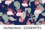 botanical seamless pattern ... | Shutterstock .eps vector #1310644751