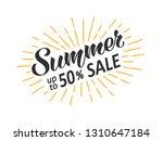 summer sale hand written... | Shutterstock .eps vector #1310647184