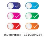 touch button check mark  touch... | Shutterstock .eps vector #1310654294