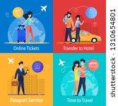online tickets transfer to... | Shutterstock .eps vector #1310654801