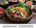 vietnamese sticky rice  xoi man ... | Shutterstock . vector #1310655281