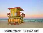 summer scene in miami beach...   Shutterstock . vector #131065589
