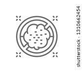 forbidden sign with dust ...   Shutterstock .eps vector #1310662454